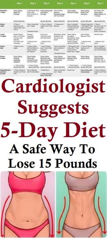 cardiologist 5 day diet reviews