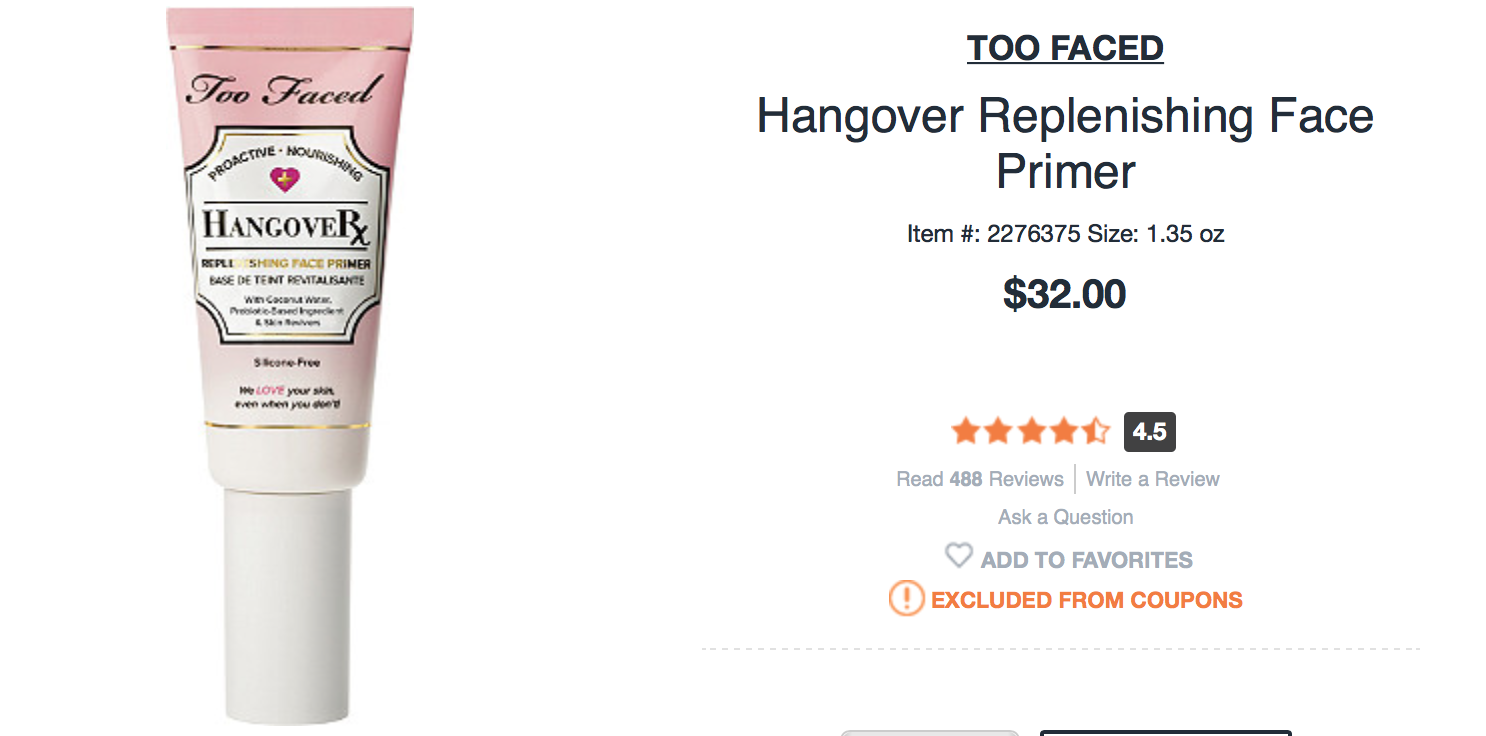 too faced hangover primer review